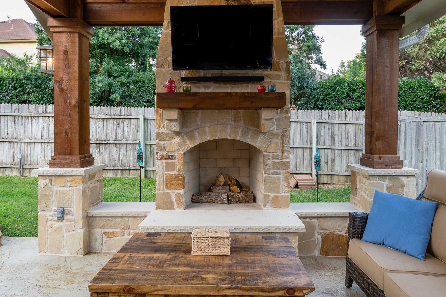 outdoor pergola by compass outdoor design in dfw