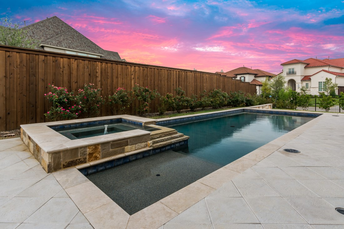 backyard landscape design by compass outdoor design in fort worth