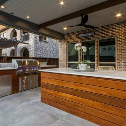Outdoor kitchen in Dallas design and constructed bythe patio designers at Compass Outdoor Design