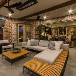 Patio design in Dallas extends home with a beautiful outdoor living space