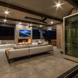 Luxurious outdoor living space in Dallas by Compass Outdoor Design