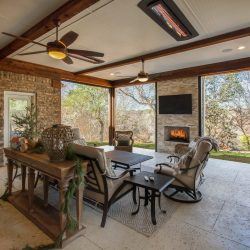 View of a spacious outdoor living area designed and built by Compass Outdoor Design