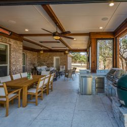 Covered patio in the Dallas area designed and constructed by Compass Outdoor Design!