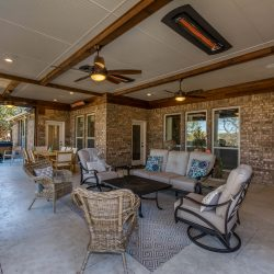 Spacious outdoor living area in Dallas designed by Compass Outdoor Design