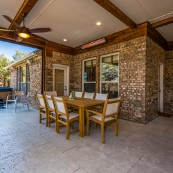 Covered patio in Dallas built by Compass Outdoor Designs
