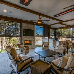 Relaxing outdoor living space in Dallas constructed by Compass Outdoor Design