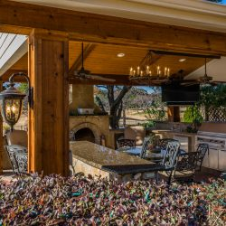 Beautiful outdoor living space in Dallas Fort-Worth designed and constructed by Compass Outdoor Design. To request a design consultation, contact our team.