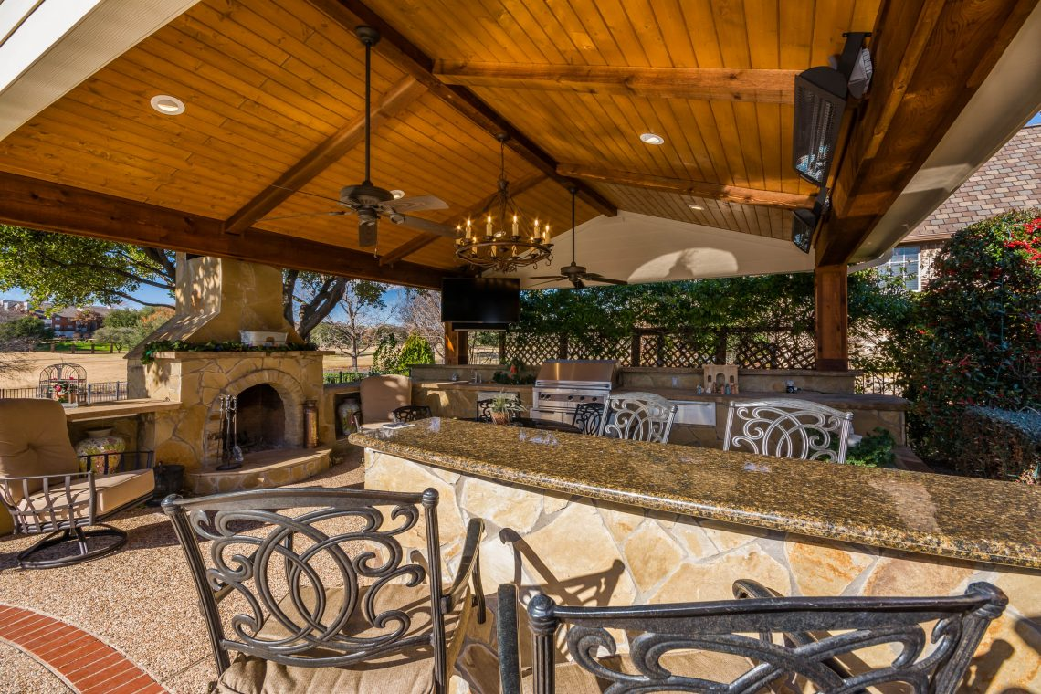 Outdoor Living Space - Tired Of A Boring Backyard? We Can ... on Outdoor Kitchen Living Spaces id=15804