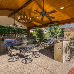 Luxurious outdoor living area in Dallas constructed by Compass Outdoor Design!