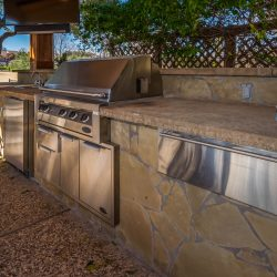 Beautiful outdoor kitchen in Dallas created by Compass Outdoor Design