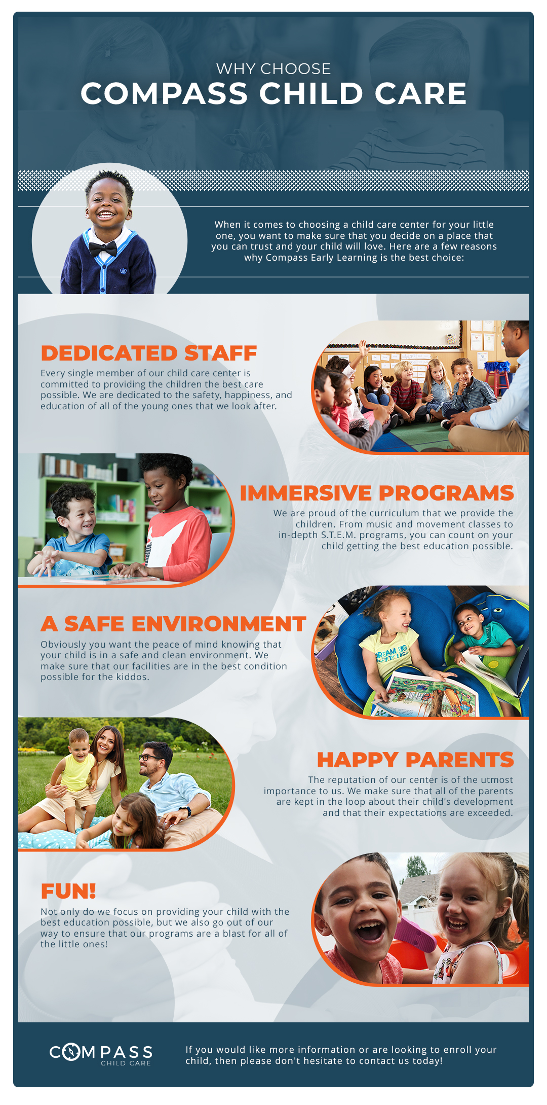 Why Choose Compass Child Care Infographic