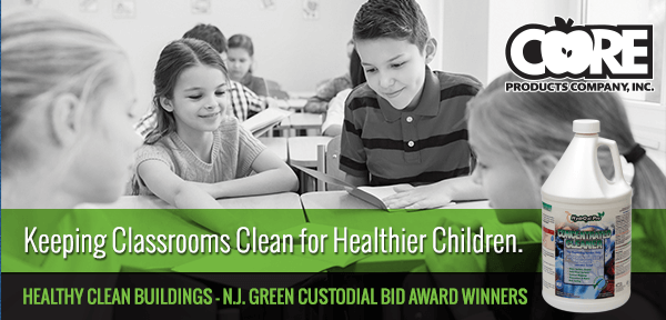 Core Products products keeping classrooms clean
