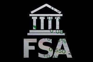 Building icon with inscription FSA