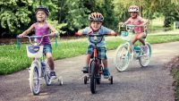 kids riding bike