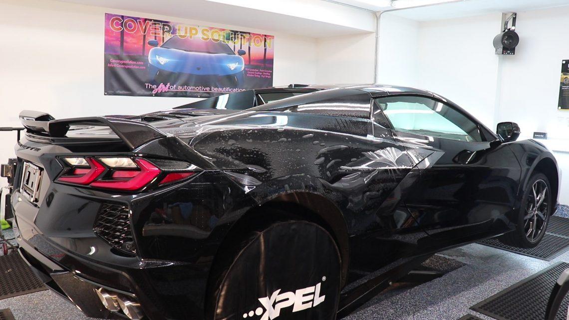 2020 Corvette C8 Receives Paint Protection Film at Cover Up Solution - Paint Protection Film in Salem, New Hampshire