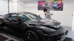 2020 Corvette C8 Receives Paint Protection Film at Cover Up Solution - Paint Protection Film in Salem, New Hampshire 2