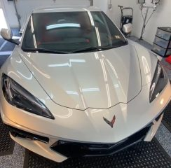 Cover Up Solution Details XPEL PPF Installation on a 2021 Corvette C8
