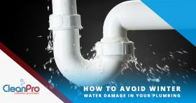 Leaky Pipe Banner Image - How to Avoid Winter Water Damage In Your Plumbing