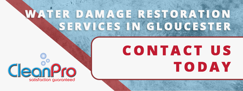 Banner - Water damage restoration services in Gloucester