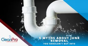 Leaky Pipe Banner - 5 Myths About Junk Removal