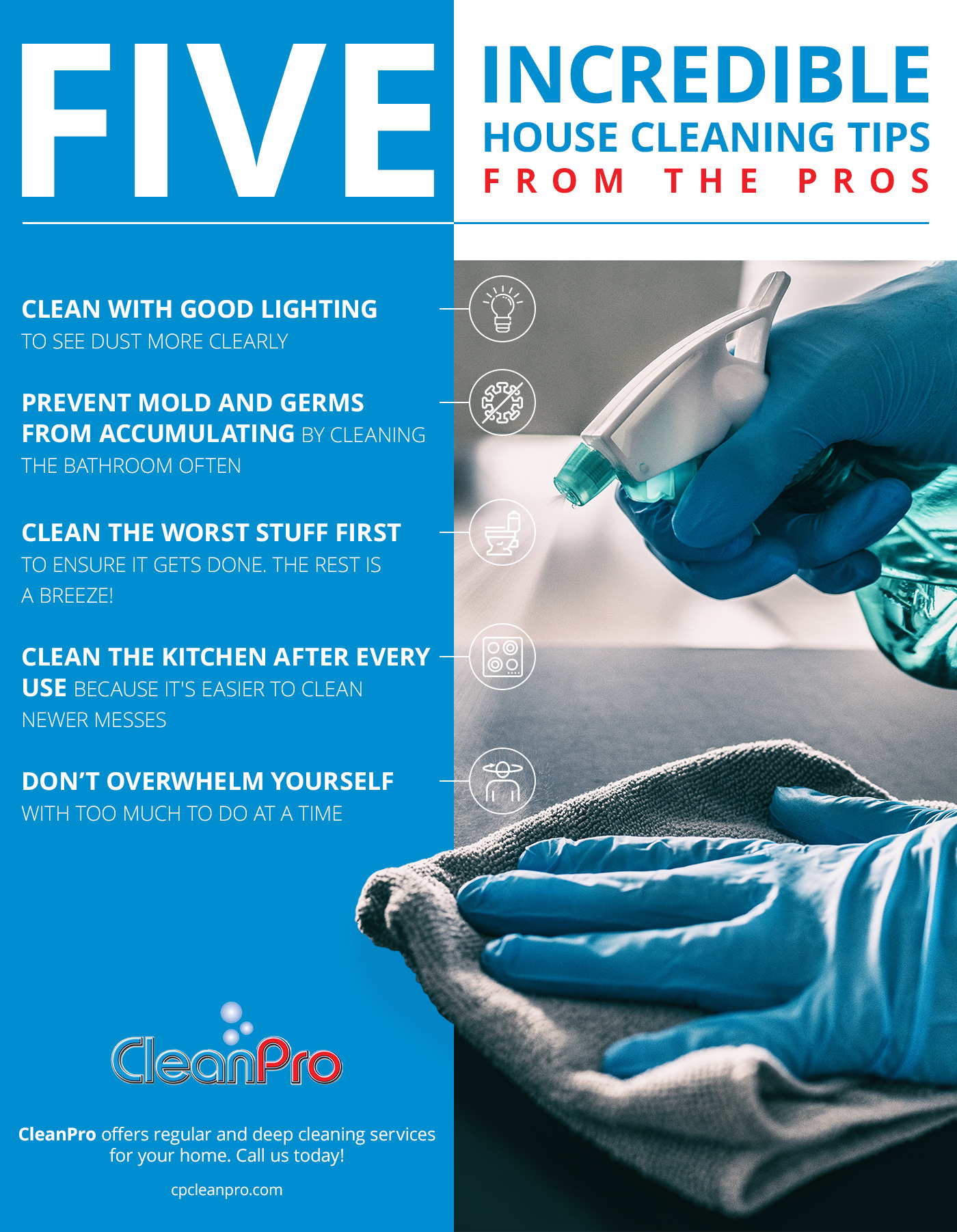 Five Incredible House Cleaning Tips