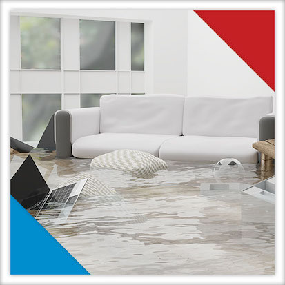 Image of a flooded living room