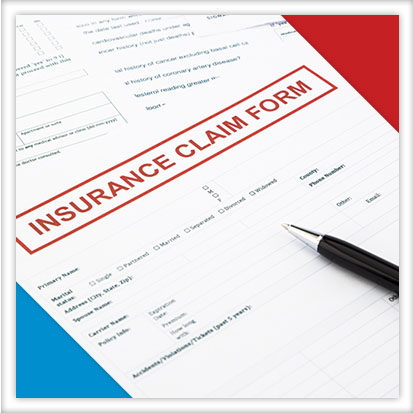Image of a home insurance claim document
