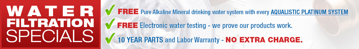 water filtration specials
