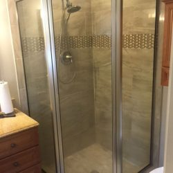 Glass Shower Door Remodel Before
