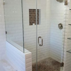Glass Shower Door Installation Photo