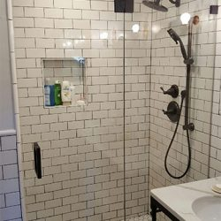 White Shower Remodel