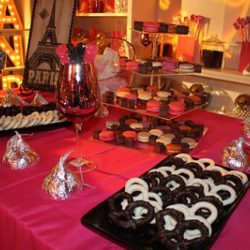 Paris Candy Boutique stylistic options and food concession design from Creative Games