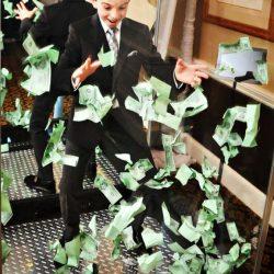 Child in cash machine for game show event design