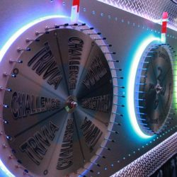 Wheel of steel spinner close-ups for event planning