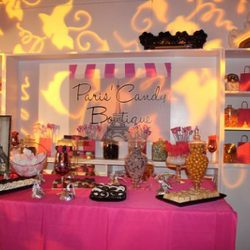 Full display and set up for Paris Candy Boutique design