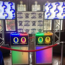 Game show poduims and stand with customized theme for event