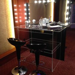Beauty bar with vanity