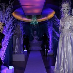 Corporate Event with acotrs in costume and elaborate decor