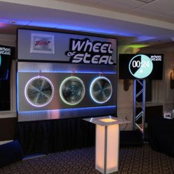 The wheel of steel game of chance event entertainment