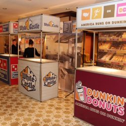 The Creative Games concessions stands inspired by White Castle and other favorite fast foods.