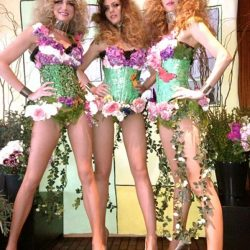Elaborate fairy costumes decorating the actresses for a custom design corporate event