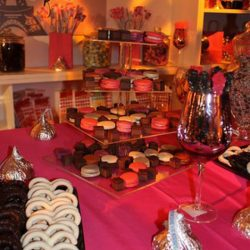 Specially deisgned candy boutique style from high-end event planner Creative Games