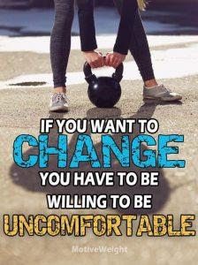 Change brings on uncomfort