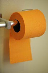 orange toilet