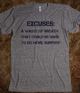 excuses for burpees