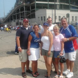 Staff of Crossroads Tavern & Eatery Restaurant at a Cubs game