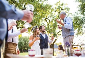 Wedding Toast Tips And Advice - Crystall Ballroom BW