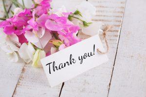 wedding stationery thank you - Crystal Ballroom BW