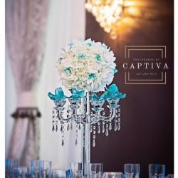 Wedding Table Centerpiece & Reception at The Crystal Ballroom in Orlando