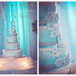Beautiful Wedding Cake & Decor at The Crystal Ballroom in Casselberry